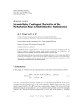 "Báo cáo hóa học: "" Research Article Second-Order Contingent Derivative of the Perturbation Map in Multiobjective Optimization"""