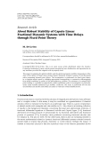 "Báo cáo hóa học: "" Research Article About Robust Stability of Caputo Linear Fractional Dynamic Systems with Time Delays through Fixed Point Theory"""
