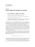 """Báo cáo hóa học: """" Editorial Abstract Differential and Difference Equations"""""""