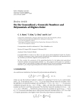 "Báo cáo hóa học: "" Review Article On the Generalized q-Genocchi Numbers and Polynomials of Higher-Order"""