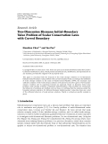 """Báo cáo hóa học: """"  Research Article Two-Dimension Riemann Initial-Boundary Value Problem of Scalar Conservation Laws with Curved Boundary"""""""