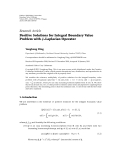 "Báo cáo hóa học: ""  Research Article Positive Solutions for Integral Boundary Value Problem with φ-Laplacian Operator Yonghong Ding"""