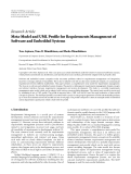 "Báo cáo hóa học: ""  Research Article Meta-Model and UML Profile for Requirements Management of Software and Embedded Systems"""