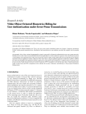 """Báo cáo hóa học: """" Research Article Video-Object Oriented Biometrics Hiding for User Authentication under Error-Prone Transmissions"""""""