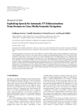 """Báo cáo hóa học: """"  Research Article Exploiting Speech for Automatic TV Delinearization: From Streams to Cross-Media Semantic Navigation"""""""