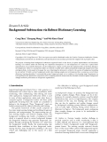 "Báo cáo hóa học: ""  Research Article Background Subtraction via Robust Dictionary Learning"""