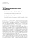 """Báo cáo hóa học: """" Editorial Time-Frequency Analysis and Its Applications to Multimedia Signals"""""""