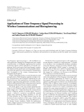 """Báo cáo hóa học: """" Editorial Applications of Time-Frequency Signal Processing in Wireless Communications and Bioengineering"""""""