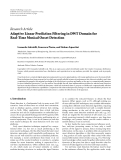 "Báo cáo hóa học: ""  Research Article Adaptive Linear Prediction Filtering in DWT Domain for Real-Time Musical Onset Detection"""