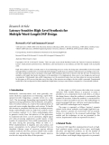 "Báo cáo hóa học: "" Research Article Latency-Sensitive High-Level Synthesis for Multiple Word-Length DSP Design"""