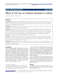 "Báo cáo hóa học: "" Effect of civil war on medical education in Liberia"""
