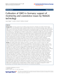 "Báo cáo hóa học: ""  Cultivation of GMO in Germany: support of monitoring and coexistence issues by WebGIS technology"""