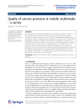 "Báo cáo hóa học: "" Quality of service provision in mobile multimedia - a survey"""