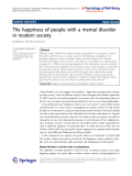 "Báo cáo hóa học: ""  The happiness of people with a mental disorder in modern society"""