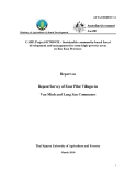Hợp tác nghiên cứu dự án: Sustainable community-based forest development and management in some high-poverty areas in Bac Kan Province ( ATTACHMENT 11)