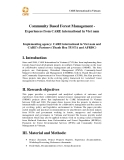 "Báo cáo khoa học nông nghiệp "" Community Based Forest Management - Experiences from CARE international in Viet nam """