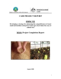 Báo cáo khoa học: Developing a strategy for enhancing the competitiveness of rural small and medium enterprises in the agro-food chain: the case of animal feed (MS10)