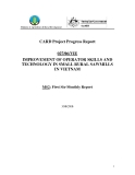 Báo cáo định kỳ: IMPROVEMENT OF OPERATOR SKILLS AND TECHNOLOGY IN SMALL RURAL SAWMILLS IN VIETNAM (MS2)