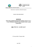 Báo cáo dự án khoa học: Improving traditional integrated farming systems (VAC) – a new livelihood option for poor farmers in the coastal communities (MS6)