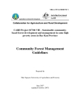 """Báo cáo khoa học nông nghiệp """" Sustainable communitybased forest development and management in some high poverty areas in Bac Kan Province - Community Forest Management Guidelines """" MS4"""