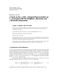 "Báo cáo hóa học: ""  Research Article A Study on the p-Adic q-Integral Representation on p Associated with the Weighted q-Bernstein and q-Bernoulli Polynomials"""