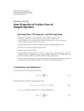 """Báo cáo hóa học: """" Research Article Some Properties of Certain Class of Integral Operators"""""""