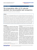 "Báo cáo hóa học: ""  The encapsulation effect of UV molecular absorbers into biocompatible lipid nanoparticles"""