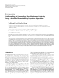 """Báo cáo hóa học: """"  Review Article List Decoding of Generalized Reed-Solomon Codes by Using a Modified Extended Key Equation Algorithm"""""""