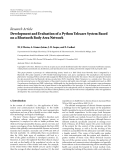"Báo cáo hóa học: "" Research Article Development and Evaluation of a Python Telecare System Based on a Bluetooth Body Area Network"""