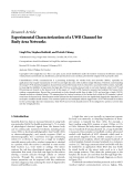"Báo cáo hóa học: ""  Research Article Experimental Characterization of a UWB Channel for Body Area Networks"""