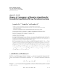 """Báo cáo hóa học: """"  Research Article Degree of Convergence of Iterative Algorithms for Boundedly Lipschitzian Strong Pseudocontractions"""""""