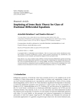 """Báo cáo hóa học: """" Research Article Employing of Some Basic Theory for Class of Fractional Differential Equations"""""""
