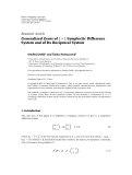 """Báo cáo hóa học: """"  Research Article Generalized Zeros of 2 × 2 Symplectic Difference System and of Its Reciprocal System"""""""