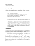 """Báo cáo hóa học: """" Research Article Hierarchies of Difference Boundary Value Problems"""""""