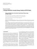 "Báo cáo hóa học: "" Research Article A Hybrid Model for Accurate Energy Analysis of WSN Nodes"""