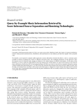 "Báo cáo hóa học: "" Research Article Query-by-Example Music Information Retrieval by Score-Informed Source Separation and Remixing Technologies"""