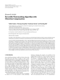 "Báo cáo hóa học: "" Research Article Reversible Watermarking Algorithm with Distortion Compensation"""