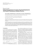 "Báo cáo hóa học: "" Research Article Optimal Nonparametric Covariance Function Estimation for Any Family of Nonstationary Random Processes"""
