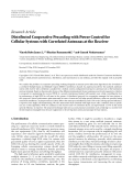 "Báo cáo hóa học: "" Research Article Distributed Cooperative Precoding with Power Control for Cellular Systems with Correlated Antennas at the Receiver"""