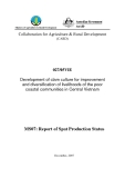 """Development of clam culture for improvement and diversification of livelihoods of the poor coastal communities in Central Vietnam - MS7 """""""