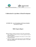 Báo cáo: Collaboration for Agriculture & Rural Development: Cocoa Fermentation and Drying and Quality Assessment in Vietnam (MS8)