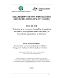 Collaboration for Agriculture & Rural Development: Technical and economic feasibility of applying the Better Management Practices (BMP) to household aquaculture in Vietnam - MS 8 ""