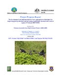 Nghiên cứu nông nghiệp:The development and implementation of new appropriate technologies for improving goat production and increasing small-holder income in the central region of Vietnam - Milestone 9'