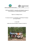 "Project Progress Report:"" Sustainable and Profitable Development of Acacia Plantations for Sawlog Production in Vietnam """