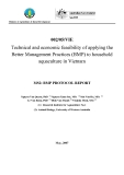 Nghiên cứu nông nghiệp: Technical and economic feasibility of applying the Better Management Practices (BMP) to household aquaculture in Vietnam - MS2