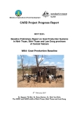"Card Project Progress Report"" Baseline Preliminary Report on Goat Production Systems in Ninh Thuan, Binh Thuan and Lam Dong provinces of Central Vietnam - MS4 """