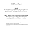 "Card Project Report: ""Sustainable and profitable development of acacia plantations for sawlog production in Vietnam - MS 3 """