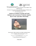 Ministry of Agriculture and Rural Development:  Analysis of Technical, Economic and Social Indicators and Assessment of Technical Adoption Rate in Clam Aquaculture Households - MS10 ""