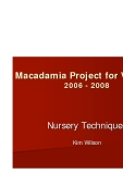 Macadamia Project for Vietnam 2006 - 2008