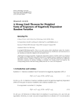 """Báo cáo hóa học: """"   Research Article A Strong Limit Theorem for Weighted Sums of Sequences of Negatively Dependent Random Variables"""""""